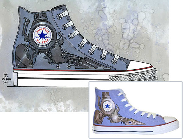 Converse shoes are fun to draw because they're a recognizable icon and because they come in many different colors and patterns, so you can color them any way .